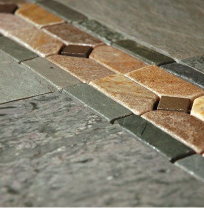 Border in Stone Mosaic - Wall And Floor Tile
