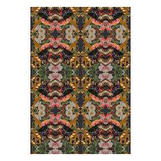 Jardin De Fleur Wild Eco Canvas Upholstery Fabric, Noir