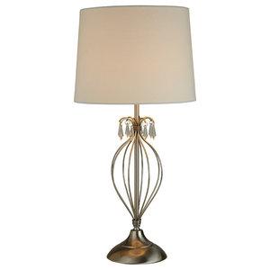 Naomi Table Lamp, Satin Chrome
