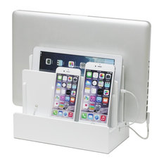 Aspen Charging Station, White, With USB Power Strip