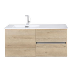 Beachwood Collection  42-inch Wall Mount Modern Bathroom Vanity - Organic By Cutler