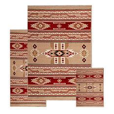 Area Rugs Southwestern Contemporary Geometric Phoenix Berber 3 Piece Set
