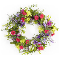 "Mixed Floral Wreath 24""D"