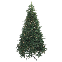 7.5' Pre-Lit Northern Pine Full Artificial Christmas Tree, Clear Lights