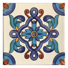 "Cordoba Talavera Mexican Tiles, 2""x2"" Tiles, Set of 36"