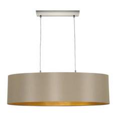 Mult Light Pendant With Matte Nickel Finish and Cappucino and Gold Shade
