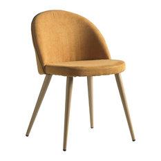 Deco Contemporary Dining Chair, Orange