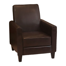 GDFStudio   Lucas Modern Design Recliner Club Chair , Brown   Recliner  Chairs