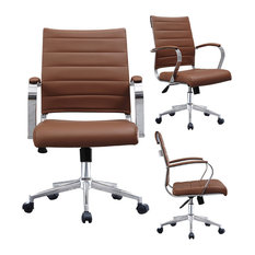Homedotdot   Modern Designer Executive Ergonomic Office Chair With Arms  Ribbed For Computer,   Office