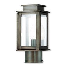 Princeton 1-Light Post Lantern, Vintage Pewter