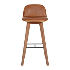 Napoli Leather Barstool, Tan