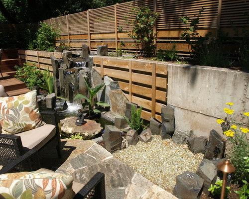 asiatischer vorgarten mit feuerstelle ideen f r die. Black Bedroom Furniture Sets. Home Design Ideas