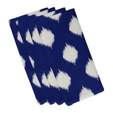 Ikat Dot Geometric Print Napkin, Blue Suede, Set of 4