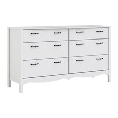 Pemberly Row 6 Drawer Double Dresser In White