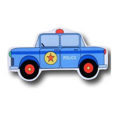 Police Car Wooden Drawer Pull
