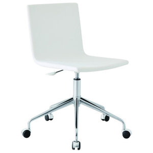 Galena White Leather Office Chair