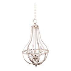 Southen Living French Country White Chandelier