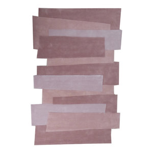 Pebbles Steps Rug, Pink, 240x170 cm