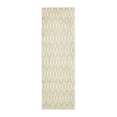 Unique Loom Ivory Geometric Morocco Runner Rug, 2'x6'