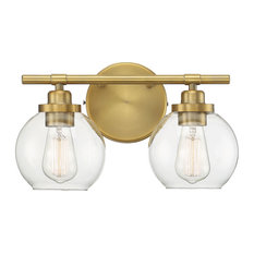 "Savoy House 8-4050-2 Carson 2 Light 14""W Bathroom Vanity Light - Brass"