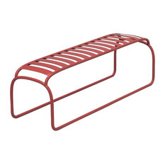 Turtle Minimalist Iron Bench, Brick