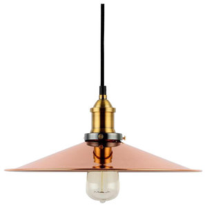 Balance Copper Pendant Light With Black Cable
