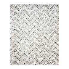 Vivian Area Rug, Ivory/Charcoal, 8'x10'
