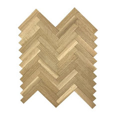 Solid Herringbone, White Oak, 6.75""