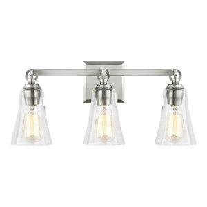 3-Light Vanity, Satin Nickel