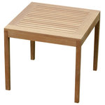 """Atlanta Teak Furniture - Square Teak Table, 32"""" Grade A - This teak table is the perfect size for small spaces while comfortably seating 2 or 4 people. it will look great with any of our dining chairs."""