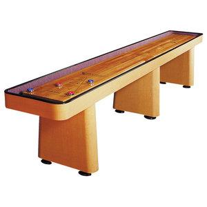 Venture Challenger Shuffleboard Table, Maple Fusion, 12'