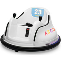12V Kids Toy Electric Ride On Bumper Car, White