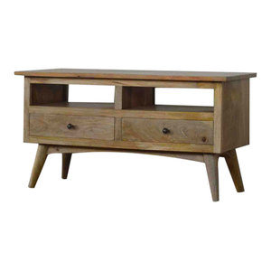 Nordic Style TV Stand with 2 Drawers and 2 Shelves