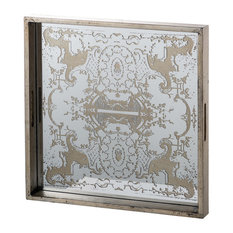 Etched Mirrored Tray