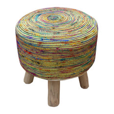 Excellent 50 Most Popular Footstools For 2019 Houzz Theyellowbook Wood Chair Design Ideas Theyellowbookinfo