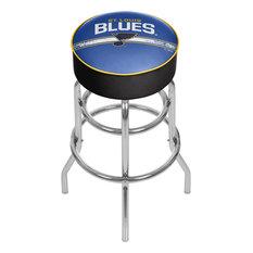 NHL Chrome Barstool With Swivel St. Louis Blues