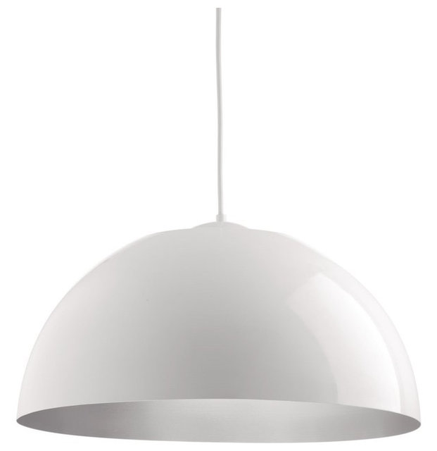 Progress Lighting Dome 1 Light, LED Pendant, White