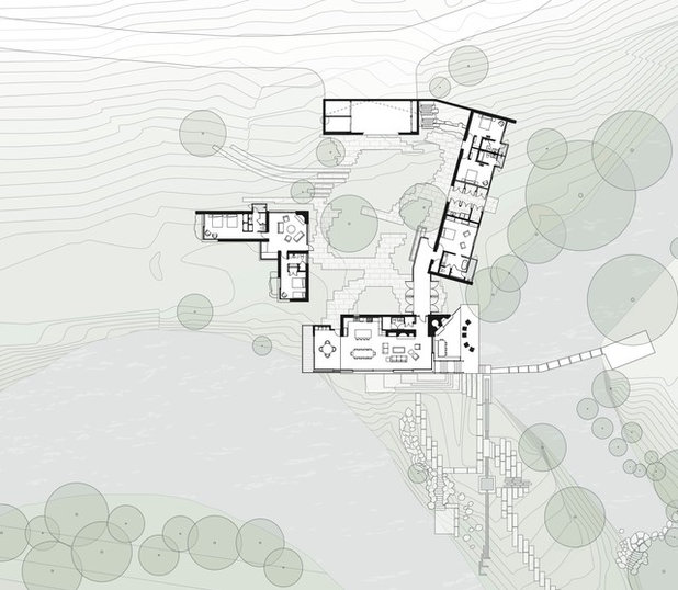 Contemporary Site And Landscape Plan by Lake Flato Architects