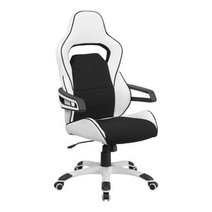 Nadella High-Back Executive Office Chair, White With Black Inserts