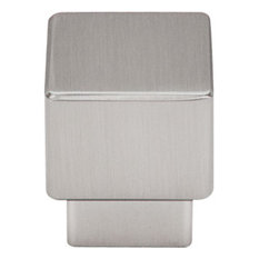 "Tapered Square Knob 1"" - Brushed Satin Nickel"