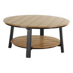 LuxCraft Recycled Plastic Deluxe Conversation Table, Cedar and Black