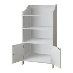 Traditional Deluxe 2-Door Bathroom Cabinet, White