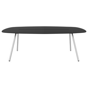 Medium A-Lowha Long Board Table, Black, Stainless Steel Frame