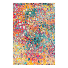 Contemporary POP Modern Abstract Multi/Yellow 8' x 10' Area Rug