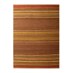 Sai Resources Llc Handwoven Jute Rug Brown Brick Red And Yellow
