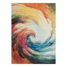 "Nourison Celestial Wave CES07 Multicolor 4x6 Area Rug, 7'10""x10'6"""