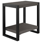 "Walker Edison - 24"" Urban Blend Side Table, Charcoal - The angelo:HOME 24"" Side Table adds a functional and elegant accent to any living space. Designed by Angelo Surmelis, it is made with manufactured wood and a powder-coated steel frame for durability. It is easy to assemble, and provides an open top space for accommodating beverages, reading material and decorative items. Beneath is a lower shelf for additional storage, maximizing the space available. Pair this beautiful side table with matching items in the angelo:HOME collection."