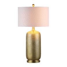 "Sophia 30"" Resin Table Lamp, Gold"