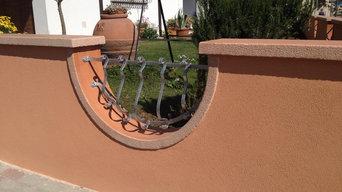 finitura muro di recinzione