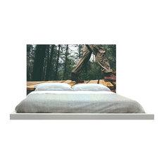 -inchPlanks In Forest-inch Headboard